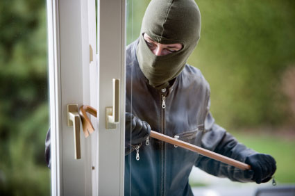 thief breaking into home to steal gold
