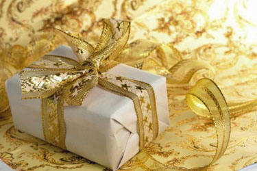 give gold gift box
