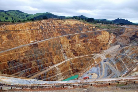 Gold mine production.