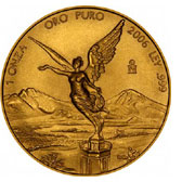 Mexican Onza gold coin.